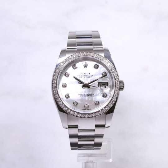 Rolex Datejust 116244 Mother of Pearl Diamond Dial