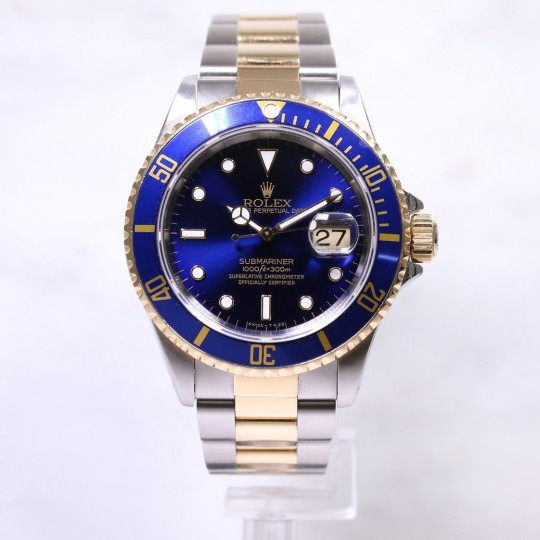 Rolex Submariner 16613 Steel & Gold Blue Dial