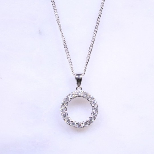 Round Brilliant Diamond 'Circle Of Life' Necklace