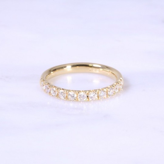 Micro Claw Set Diamond Eternity Ring 3mm