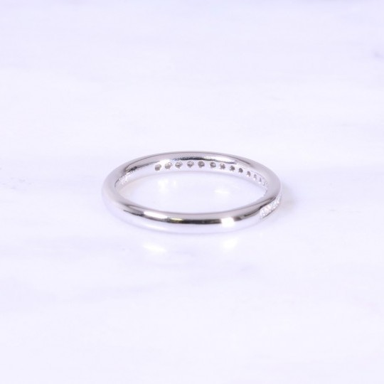Channel Set Diamond Half Eternity Ring 2.5mm