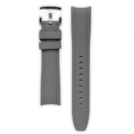 Everest Curved End Grey Rubber Strap With Tang Buckle