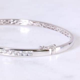 Diamond Channel Bangle 1.30ct