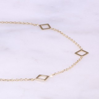 Yellow Gold Fine Diamond Shaped Bracelet