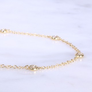 Diamond Dot & Chain Link Bracelet