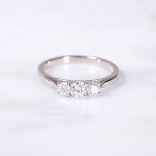 Round Brilliant Diamond 3 Stone Ring 0.51ct
