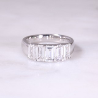 5 Stone Baguette Diamond Ring