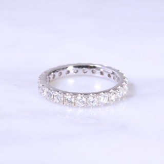 Claw Set Full Diamond Eternity Ring