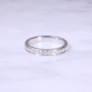 Grain Set Diamond 1/2 Eternity Ring