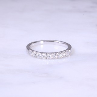 9 Stone Diamond Claw Set 1/2 Eternity Ring