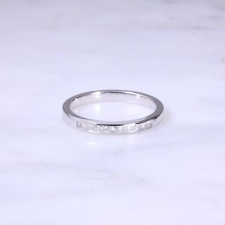 Fine Channel Set Diamond 1/2 Eternity Ring