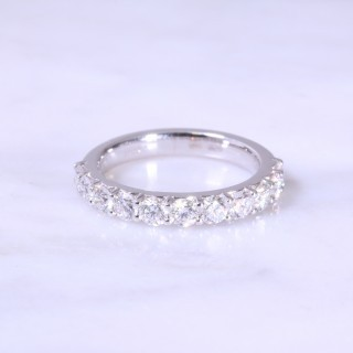 Claw Set 11 Stone Diamond Half Eternity Ring