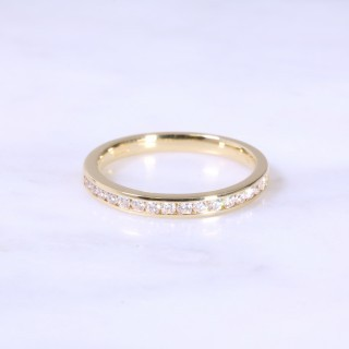 Fine Channel Set Half Eternity Ring