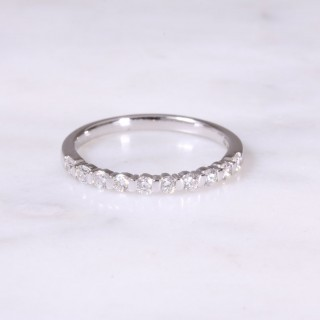 Bar Set Diamond Half Eternity Ring