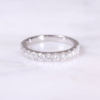 Castle Set Diamond Half Eternity Ring
