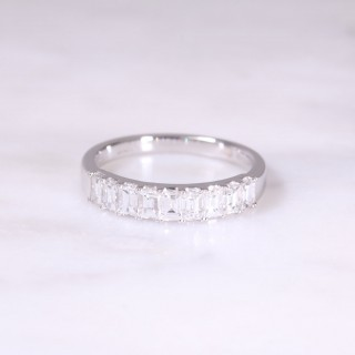 9 Stone Baguette Diamond Ring