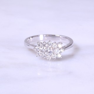 Fancy Claw Set Diamond Cluster Ring