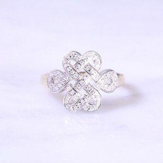 Diamond Set Celtic Design Dress Ring