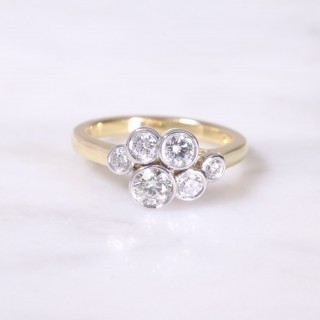Bubble Cluster Diamond Ring