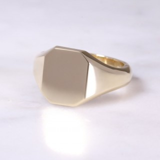 9ct Octagonal Signet Ring