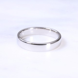 Platinum 4mm Court Wedding Ring