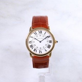 Cartier Solo Ronde 18ct & steel back Quartz