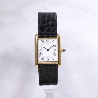 Cartier Tank Manual 18ct yellow gold