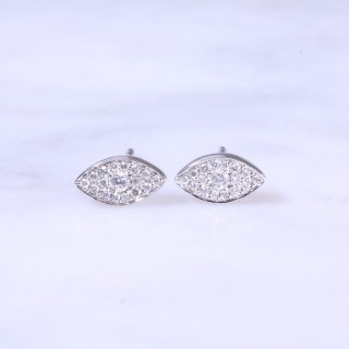 Diamond Marquise Cluster Ear Studs 0.22ct
