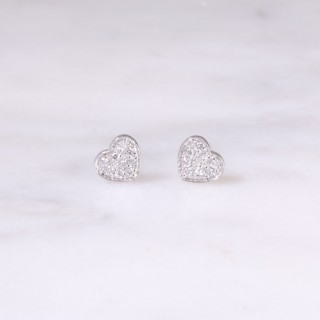 Petite Heart Diamond Ear Studs