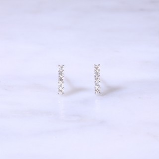 Diamond Bar Ear Studs