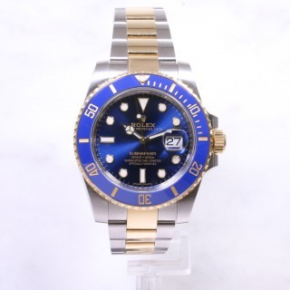 Rolex Submariner 116613LB Steel & Gold Blue Dial