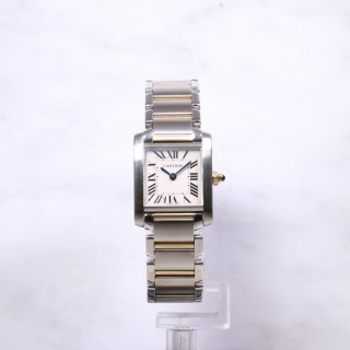 Ladies Cartier Tank Francaise Steel & Gold W51007Q4