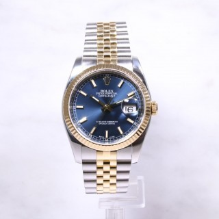 Rolex Datejust Steel & Gold Blue Dial 116233