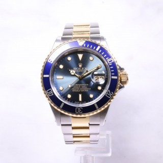 Rolex Submariner Date Blue Steel & Gold 16803