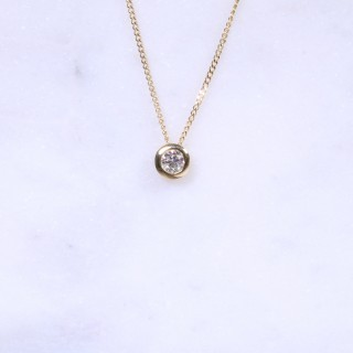 Diamond Rub-Over Pendant