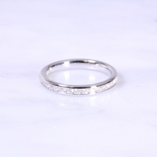Channel Set Diamond Half Eternity Ring 3mm