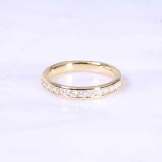 Channel Set Diamond Half Eternity Ring 3.5mm