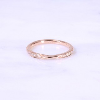 Rose Gold Twist Diamond Eternity Ring 2mm