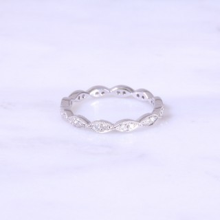 Marquise Design Full Diamond Eternity Ring 2.5mm