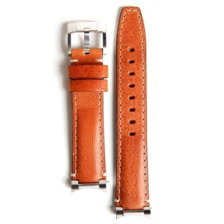 Everest Steel End Leather Strap in Tan