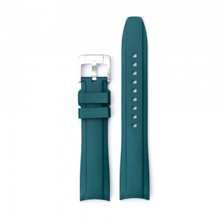Everest Curved End Green Rubber Strap With Tang Buckle