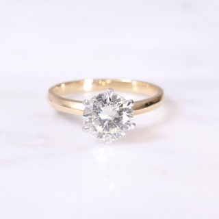 Secondhand Round Brilliant Solitaire Ring