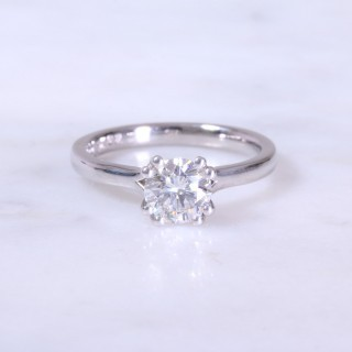 Secondhand 1.02ct Round brilliant Double Claw Ring