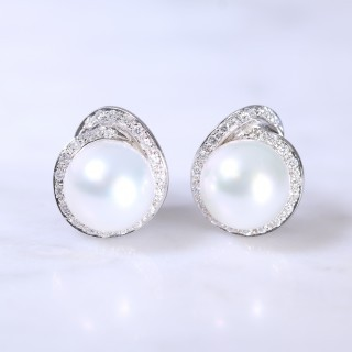 Southsea Pearl & Diamond Earrings